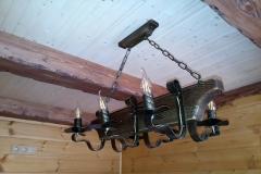 деревянный светильник в баню ручной работы