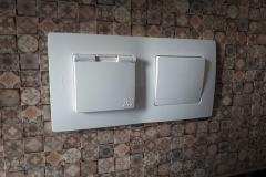 розетка legrand etika ip44 в ванной комнате