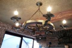 светильник деревянный, колесо