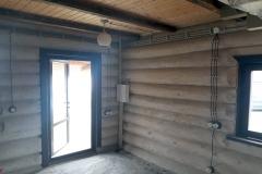 проводка в ретро стиле в деревянном доме