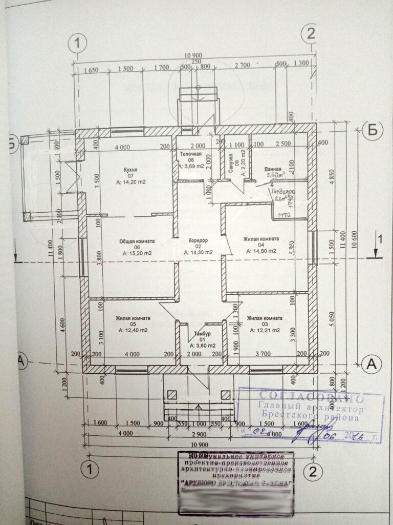 план дома отапливаемого электричеством