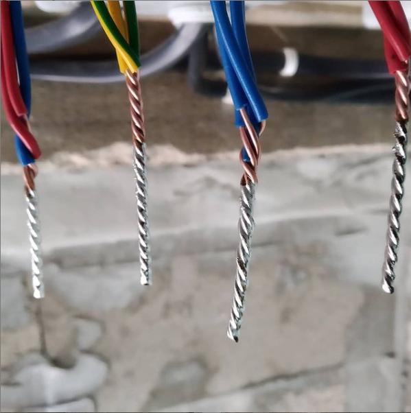 Соединение провода методом пайки